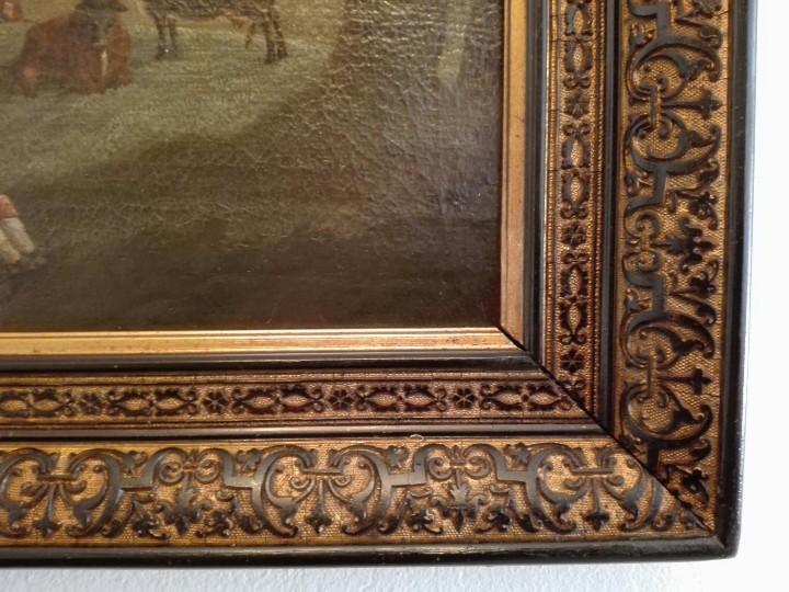 Arte: PAISAJE BUCOLICO HOLANDES - S.XVIII - OLEO SOBRE LIENZO - IMPORTANTE MARCO - ESCUELA HOLANDESA - - Foto 6 - 119155479