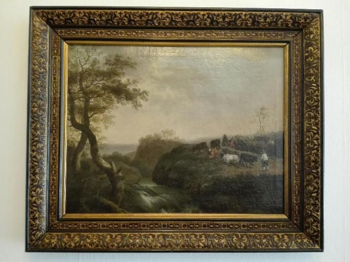 Arte: PAISAJE BUCOLICO HOLANDES - S.XVIII - OLEO SOBRE LIENZO - IMPORTANTE MARCO - ESCUELA HOLANDESA - - Foto 7 - 119155479