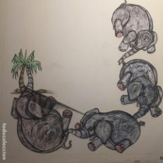 Arte: CIRO ODUBER (PANAMÁ 1921-BARCELONA 2002), OBRA ORIGINAL CATALOGADA.. Lote 112353199