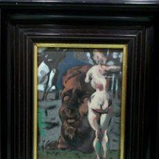 Arte: ÓLEO EXPRESIONISTA ALEMÁN AÑOS 50, ESCENA CLASICISTA, VANGUARDIA, MITOLÓGICO. Lote 112358134