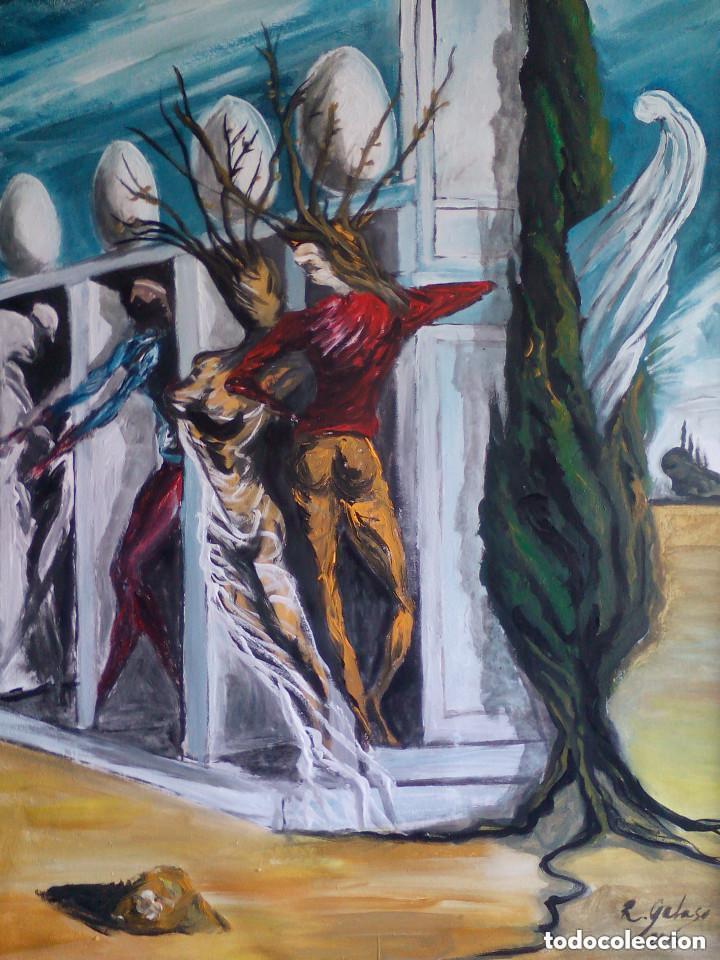 COPIA DE DALI,PINTURA SOBRE TELA. (Arte - Pintura - Pintura al Óleo Contemporánea )
