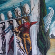 Arte: COPIA DE DALI,PINTURA SOBRE TELA.. Lote 113856883