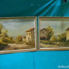 Arte: PAREJA DE CUADROS - OLEO SOBRE LIENZO -PAISAJES RURALES CAMPESTRES - FIRMADO POR MATOS DE LA ZARZA -. Lote 112412331