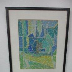 Arte: PINTURA AL ÓLEO - PAISAJE - MARIAN OLIVERES - ESCUELA OLOTINA - BONITOS COLORES. Lote 112449167
