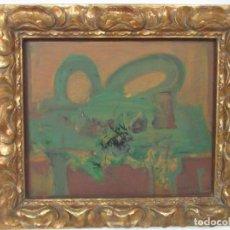 Arte: PINTURA AL ÓLEO SOBRE TABLA - JOAQUIN HIDALGO (CANTALLOPS, GIRONA 1935-2011) - BODEGÓN MESA VERDE. Lote 112449867