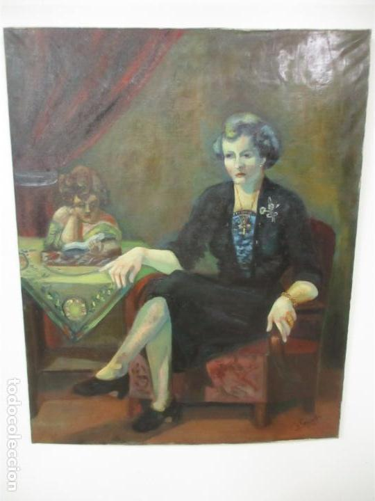FREDERIC COMELLES (OLOT 1928 - 1980) - ÓLEO SOBRE TELA - FIGURA - AÑO 1953 (Arte - Pintura - Pintura al Óleo Moderna sin fecha definida)