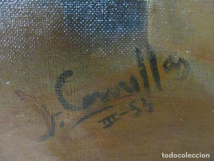 Arte: Frederic Comelles (Olot 1928 - 1980) - Óleo sobre Tela - Figura - Año 1953 - Foto 5 - 112450515