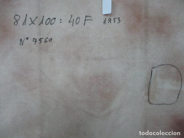 Arte: Frederic Comelles (Olot 1928 - 1980) - Óleo sobre Tela - Figura - Año 1953 - Foto 9 - 112450515