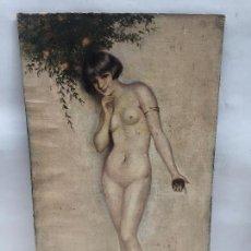Arte: DESNUDO FEMENINO , OLEO SOBRE LIENZO 1910, ESCUELA LEVANTINA. Lote 112466983