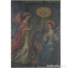 ESCUELA ESPAÑOLA S.XVIII Anunciación Oleo - cobre Medidas: 32 x 27 cm