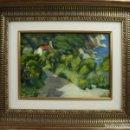 Arte: A2-033 - PAISAJE COSTERO. OLEO/TABLEX. FIRMADO JAUME MERCADÉ. 1950. Lote 44248813
