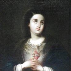 Arte: CORAZÓN DE MARÍA. GUTIERREZ DE LA VEGA (ATRIB.). Lote 112614135