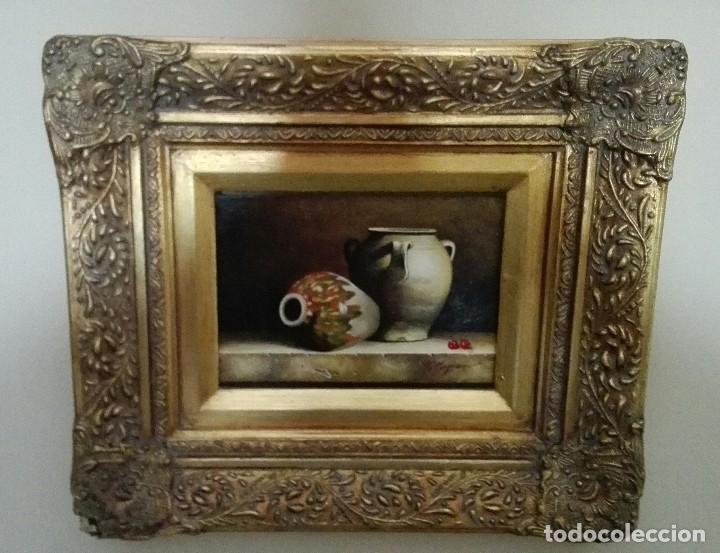 BODEGON JARRONES GRAN CALIDAD (Arte - Pintura - Pintura al Óleo Contemporánea )