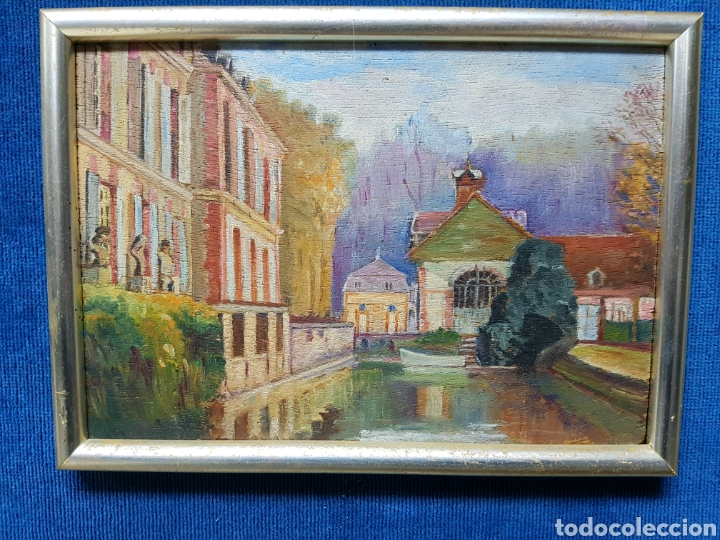 ANTIGUO OLEO SOBRE TABLA. ENMARCADO 39X32CM (Arte - Pintura - Pintura al Óleo Moderna sin fecha definida)