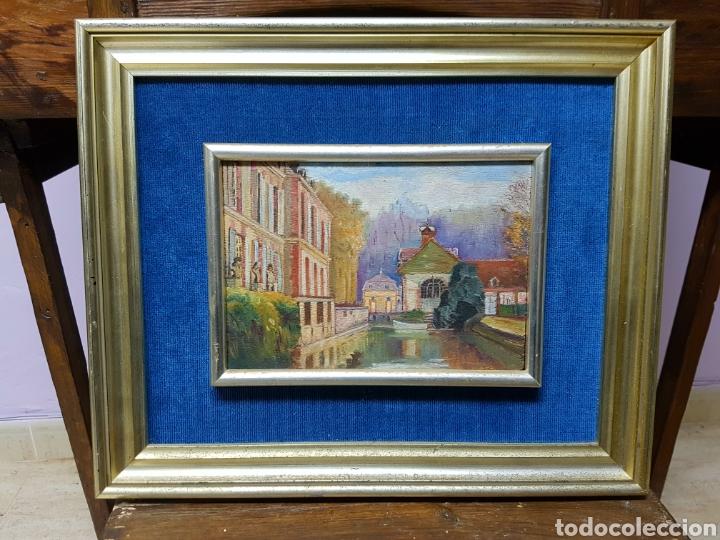 Arte: Antiguo oleo sobre tabla. Enmarcado 39x32cm - Foto 2 - 200260042