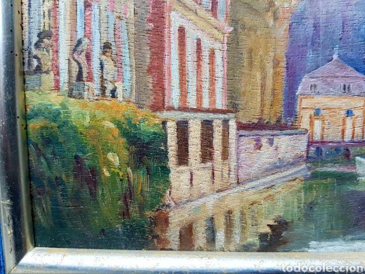 Arte: Antiguo oleo sobre tabla. Enmarcado 39x32cm - Foto 3 - 200260042