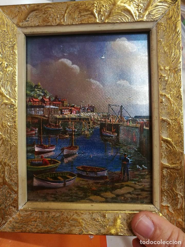 cuadro con lamina pescador colores metalizados - Comprar Pintura al ...