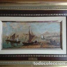 Arte: ÓLEO SOBRE TABLA DE SOLER. Lote 112724727