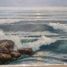 Arte: OBRA DE ARTE DE MARINA ÓLEO SOBRE LIENZO. Lote 112782519