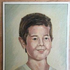 Arte: ÓLEO CON RETRATO INFANTIL. Lote 112793843