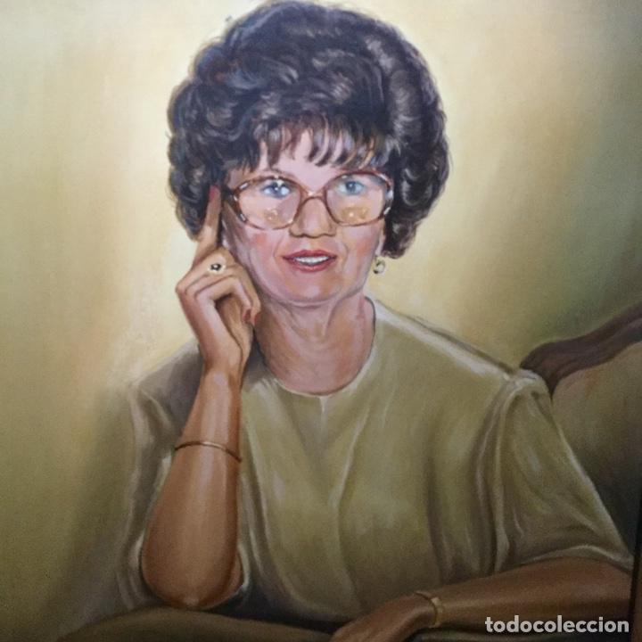 Arte: Óleo con retrato femenino de A.Vilaseca - Foto 2 - 112794899