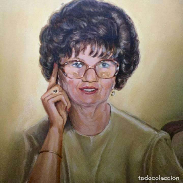 Arte: Óleo con retrato femenino de A.Vilaseca - Foto 3 - 112794899