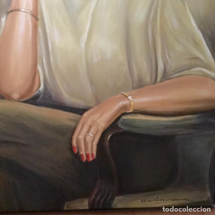 Arte: Óleo con retrato femenino de A.Vilaseca - Foto 4 - 112794899
