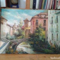 Arte: OLEO, TRAVESÍA ANTIGUA DE GRANADA. 1963.. Lote 112833371