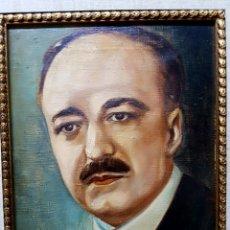 Arte: OLEO SOBRE LIENZO, RETRATO DE VICENTE BLASCO IBAÑEZ, PERFECTAMENTE ENMARCADO.. Lote 112834619