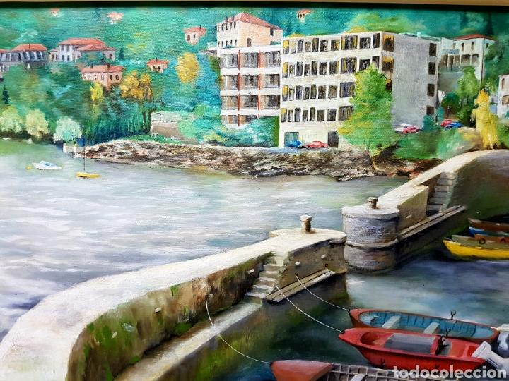 Arte: F. Dijkstra , 1974, Brissago, Suiza. Oleo sobre lienzo. Enmarcado y firmado - Foto 3 - 112835946
