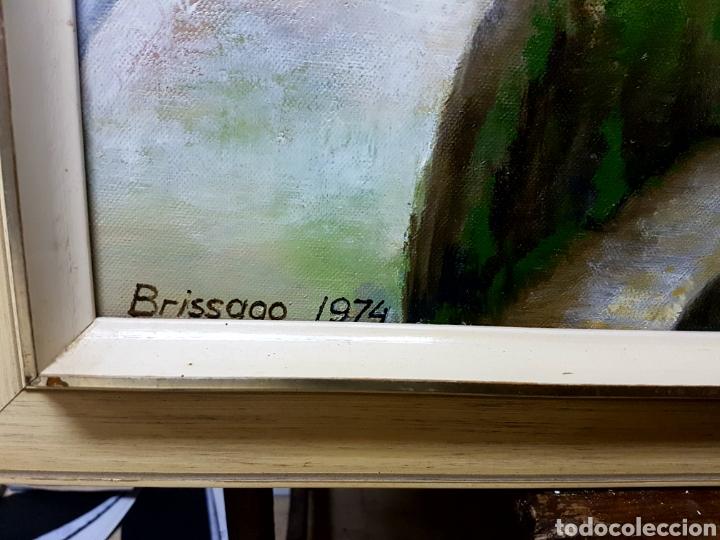 Arte: F. Dijkstra , 1974, Brissago, Suiza. Oleo sobre lienzo. Enmarcado y firmado - Foto 4 - 112835946
