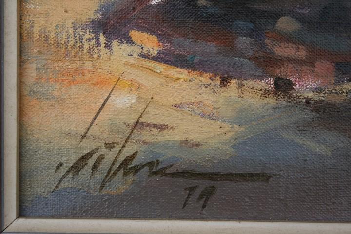 Arte: Didac Garcia Ridao, (Palafrugell, Girona, 1944) O/L, ESTUPENDA MARINA , CALELLA DE PALAFRUGELL - Foto 5 - 112863483