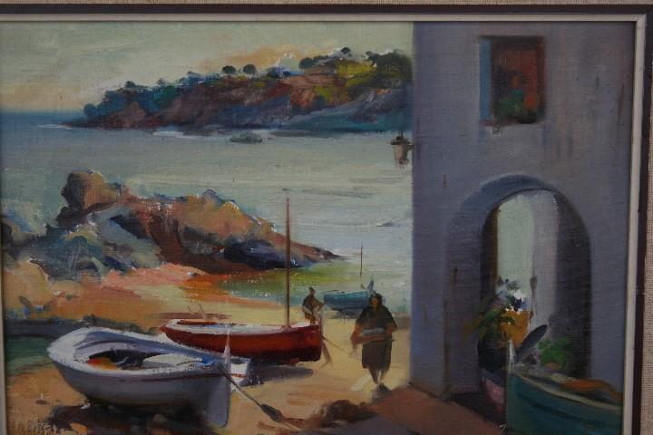 Arte: Didac Garcia Ridao, (Palafrugell, Girona, 1944) O/L, ESTUPENDA MARINA , CALELLA DE PALAFRUGELL - Foto 10 - 112863483