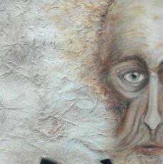 Arte: DON QUIJOTE DE LA MANCHA - ACRÍLICO SOBRE CARTULINA - GOMEZ-18 - ESCUELA DE ARTE ALICANTE. Lote 112883175