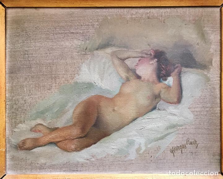 Arte: Desnudo femenino por Guillermo Vargas Ruíz (Bolullos de la Mitación, Sevilla 1910- Madrid 1990) - Foto 3 - 112884815