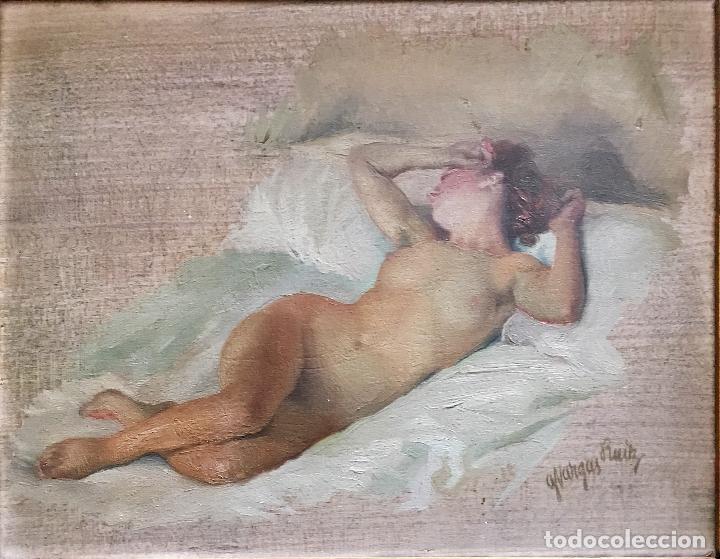 Arte: Desnudo femenino por Guillermo Vargas Ruíz (Bolullos de la Mitación, Sevilla 1910- Madrid 1990) - Foto 4 - 112884815
