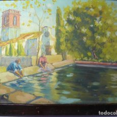 Arte: PAISAJE RURAL OLEO SOBRE CARTÓN, FIRMADO. Lote 112893939