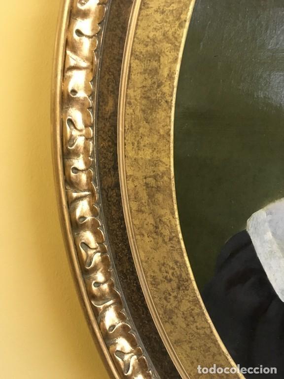 Arte: Retrato ovalado de joven niño S. XIX Francia - óleo sobre lienzo - Foto 11 - 112926215