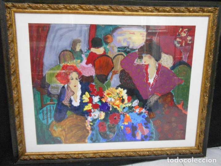 GRAN CUADRO IMPRESIONISTA EN TÉCNICA MIXTA (Arte - Pintura - Pintura al Óleo Contemporánea )