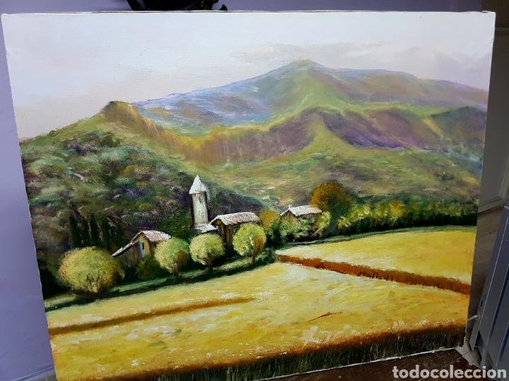 Arte: OLEO SOBRE LIENZO GRANDE, 80x60cm, , PAISAJE DE MONTAÑA, FIRMADO. SIN ENMARCAR. - Foto 3 - 113028895