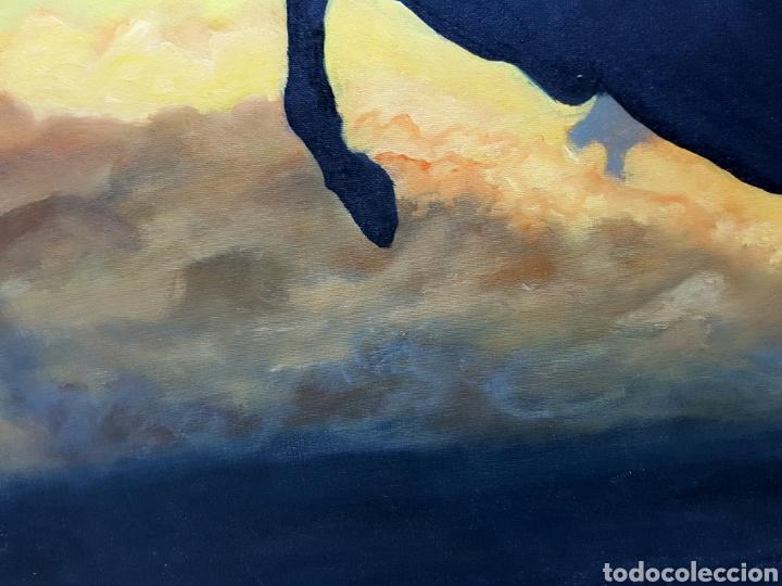 Arte: OLEO SOBRE LIENZO GRANDE, 80x60cm, , CABALLO A CONTRALUZ - Foto 2 - 113029046