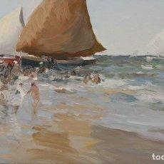 Arte: JOSE LUIS CHECA GALINDO. OLEO SOBRE TABLA 11X18. ELIGE MARCO GRATIS. PORTE GRATIS.. Lote 113034927