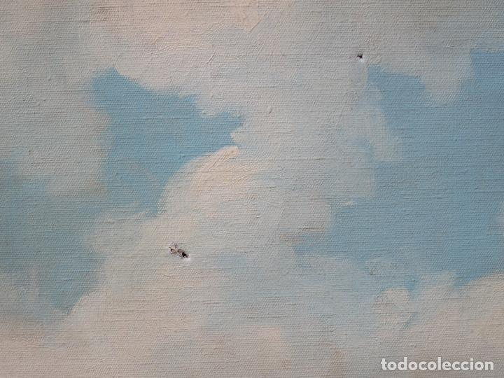 Arte: Josep Ignasi Mercader (s. XIX-XX), campamento gitano, óleo sobre tela. 94x79cm - Foto 5 - 113062215