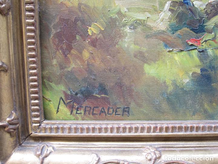 Arte: Josep Ignasi Mercader (s. XIX-XX), campamento gitano, óleo sobre tela. 94x79cm - Foto 6 - 113062215