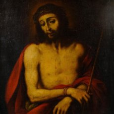 Arte: ÓLEO SOBRE LIENZO ECCE HOMO PRINCIPIOS SIGLO XVII ESCUELA ESPAÑOLA. Lote 113103331