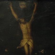 Arte: CRISTO CRUCIFICADO, OLEO/COBRE SIGLO XVII. Lote 113111491