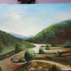 Arte: OLEO SOBRE LIENZO,PAISAJE, 50X60CM, SIN ENMARCAR. FIRMADO.. Lote 113119239