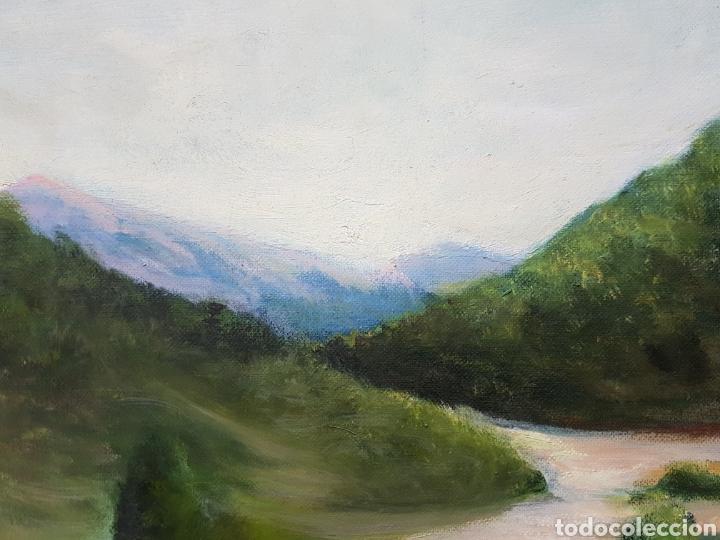 Oleo sobre lienzo paisaje 50x60cm sin enmarca comprar for Enmarcar fotos online