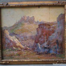 Arte: MARIUS MEIFFREN (1855-?), PAISAJE MONTAÑAS Y FIGURA, ÓLEO SOBRE TABLA. 64X55,5CM. Lote 113153179