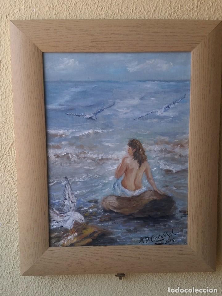 oleo tabla enmarcado 40*30 cm lo que es la manc - Comprar Pintura al ...